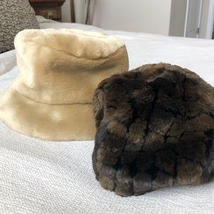 Faux fur hat bundle
